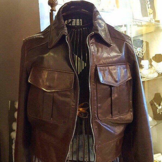Barney's Leather Jacket, Vintage Barney's New York