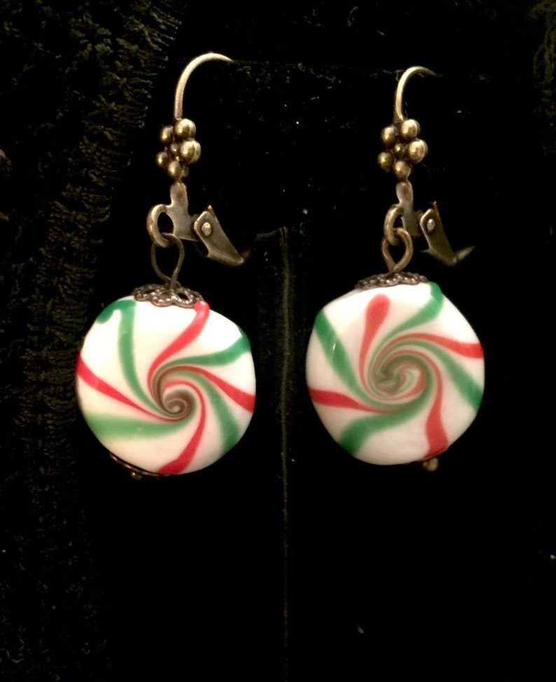 Drop Earrings Vintage Glass Candy Earrings image 0