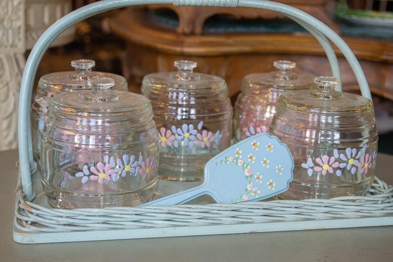 Baby Nursery Jar Set with Wicker Tray and Brush image 0
