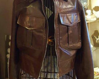Vintage Barney's New York Leather Jacket, Biker Jacket, Vintage Leather Biker Jacket