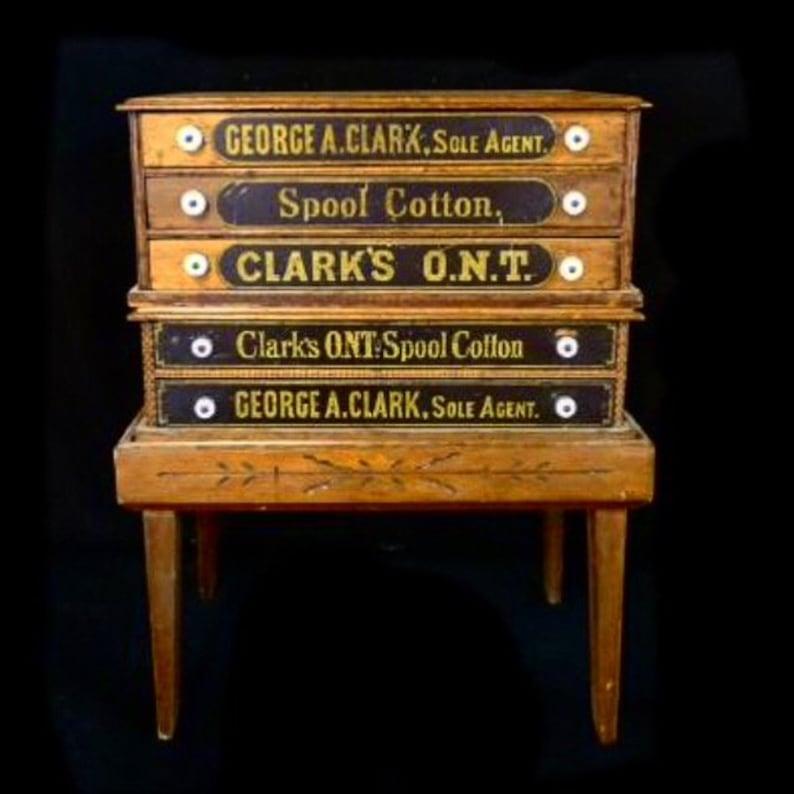 Spool Cabinet Clark's Spool Cabinet Vintage Spool image 0