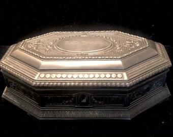 Jewelry Box, Antique Jewelry Box, Jewelry Casket Box, Edwardian European Box