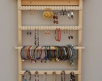 Incroyable Earring Holder, Necklace Organizer, Jewelry Organizer, Necklace Storage, Earring  Storage, Jewelry Display, Wall Mount, Jewelry Rack