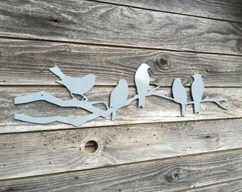 Birds On A Branch Metal Art