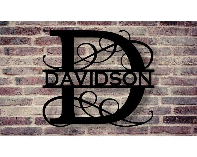 Custom monogram with you letter of choice.