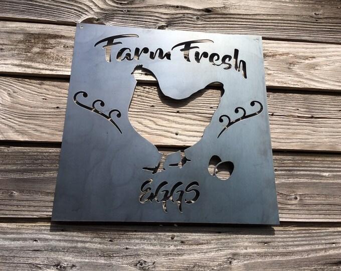 Farm Fresh Eggs Metal Sign