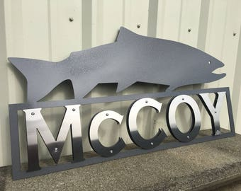 Salmon Address Sign