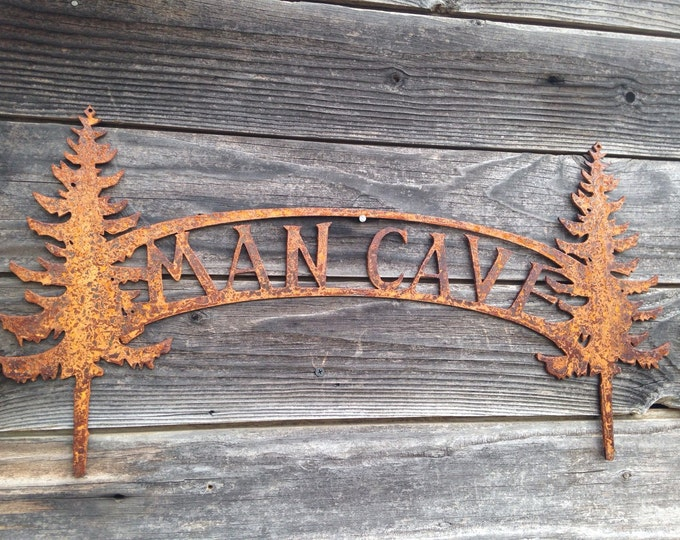 Man Cave rustic metal sign