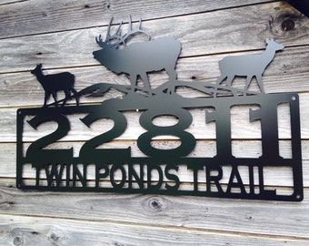 Elk Address Sign With Custom Text