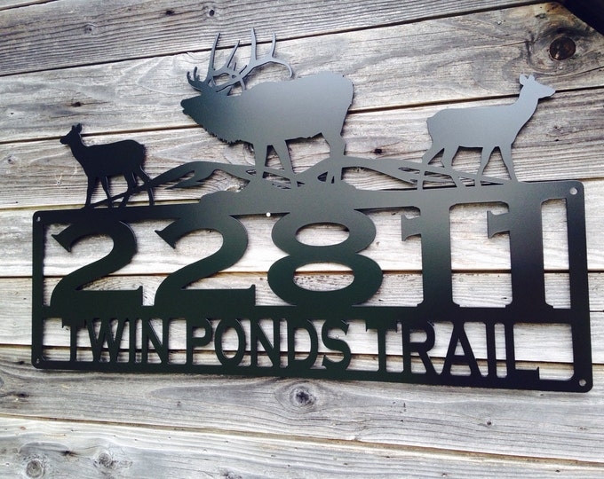 Featured listing image: Elk Address Sign With Custom Text