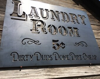 Laundry Room Sign-Dirty Duds