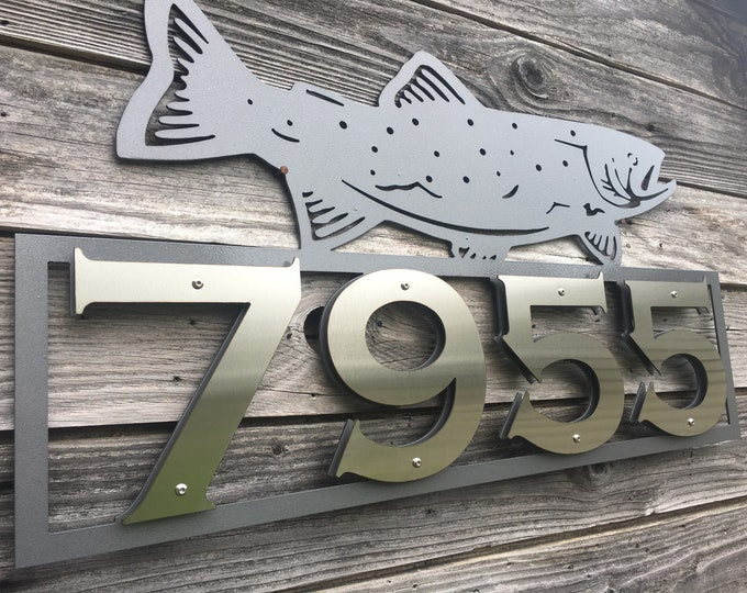 Trout Address Sign