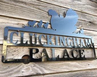 Metal Chicken Sign