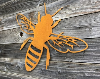 Metal Bee Sign