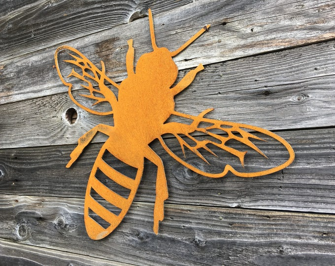 Metal Bee Sign