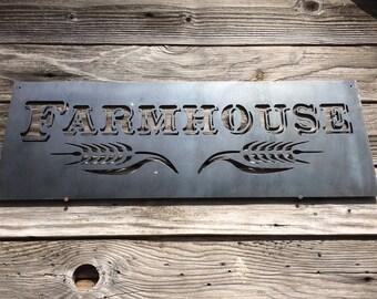 Farm House Metal Sign