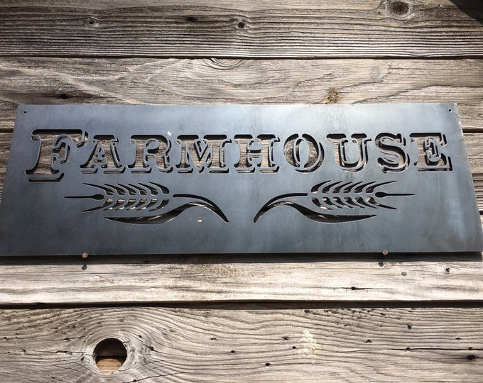 Farm House Metal Sign
