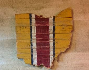 Cav's Ohio - Sports Themed Reclaimed Wood Cutout