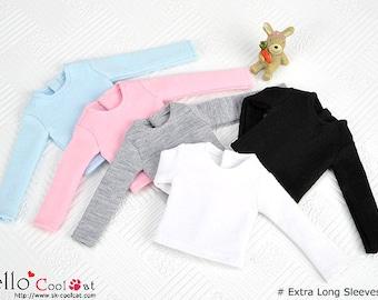 Blythe / Pullip (Extra Long Sleeves)Plain T-Shirt