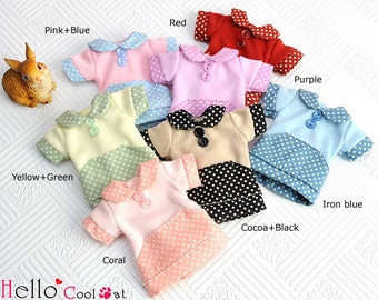 Blythe/Pullip Flat Collar T-Shirts