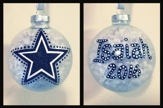 image 0 - Dallas Cowboys Christmas Ornament Hand Painted Dallas Cowboy Etsy
