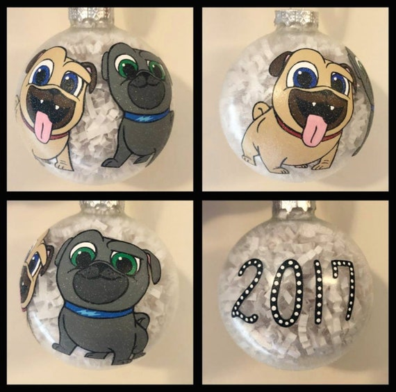 Bingo And Roly Hand Painted Ornament Puppy Dog Pals Etsy