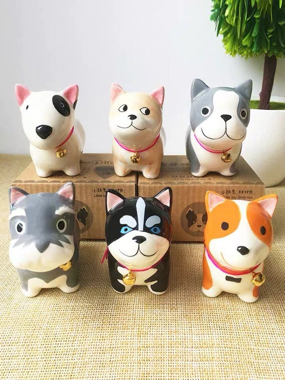 Fabulous 6Pcs Japanese Cute Dog Ceramic Decoration Desk Cartoon Animal Home Accessories Creative Birthday Ts Download Free Architecture Designs Scobabritishbridgeorg