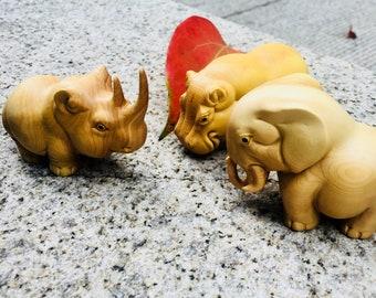 Three Africa animals crafts creative home accessories/Buxus sinica/Buxus microphylla/moduler/elephant /Rhino/Rhinoceros /Hippo