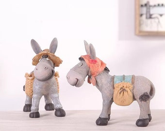 Resin crafts creative home furnishings/living room decoration /Little donkey decoration/lover gift