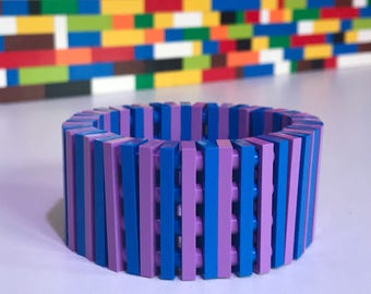 Handmade Blue and violet MonkiStuff Bracelet made using LEGO® Pieces