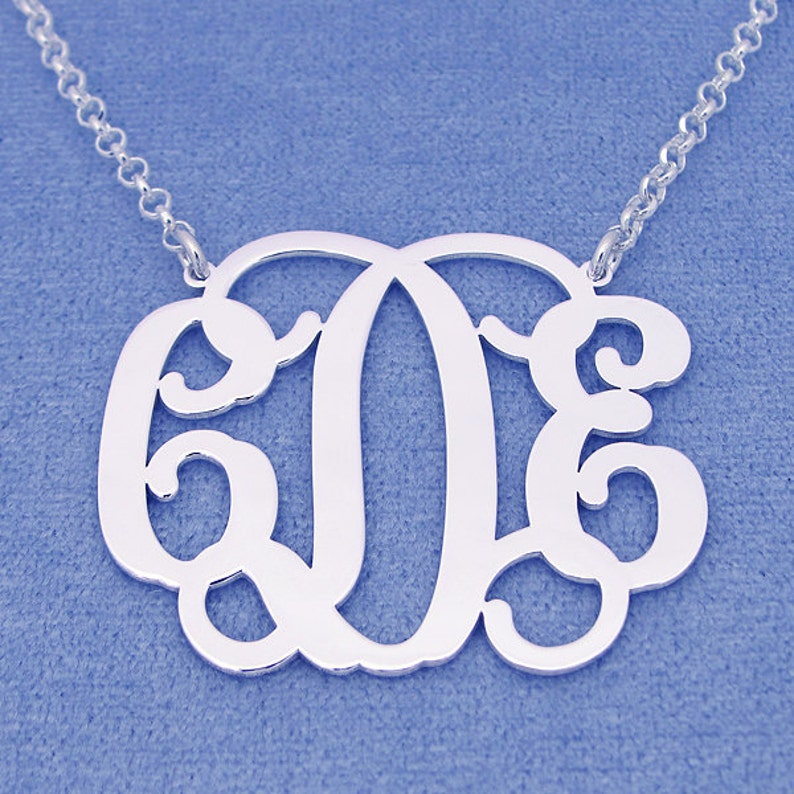 Personalized Sterling Silver 2 Inch Monogram