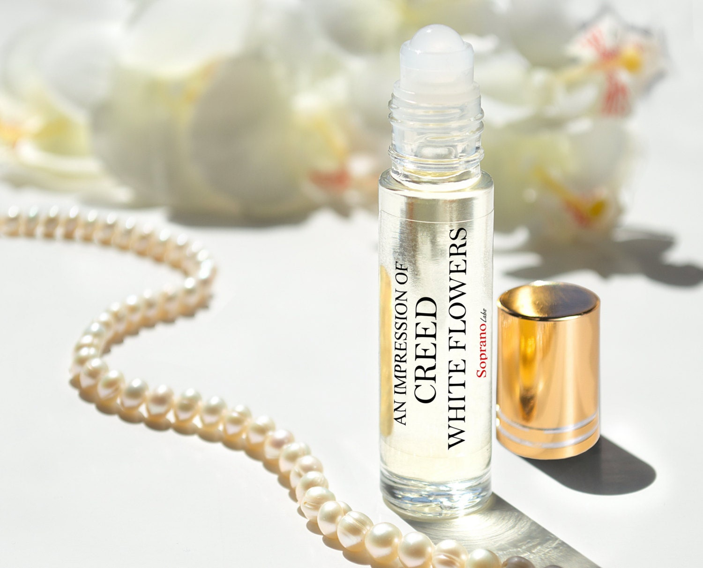White flowers creed type pure perfume oil natural vegan etsy zoom mightylinksfo