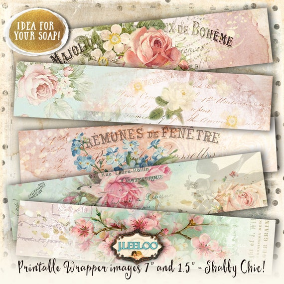 Paris Wrapper Printable Vintage Soap Wrap Bookmarks Digital Sheet Instant Download French Shabby Chic Background Papers Pp389