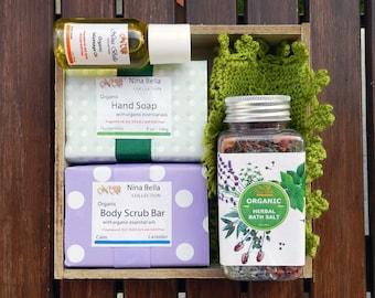 Organic Handmade Ultimate Bath Set, Birthday Gift for Her, Birthday Gift for Women, Mother's Day Gift, Gift Ideas for Women, Christmas Gift