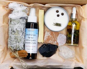 Christmas Meditation Set, Healing Crystals and Stones Gift Set, Spiritual Healing Set, Christmas Gift Set, Metaphysical Crystal Sets,