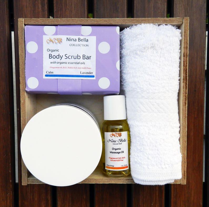 Organic Handmade Exfoliating Set Birthday Gift for Her image 0