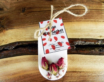 Mini Rose Wax Sachets, Set of 4, Aromatherapy Handcrafted Gift, Wedding Gift, Bridal Shower Gift, Corporate Gift, by Nina Bella Collection