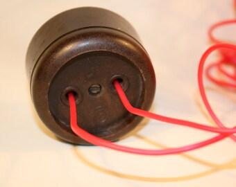 Vintage Electrical Socket / Industrial socket/ Electrical Outlets/ Bakelite Socket/ Soviet/ Socket/ Vintage/ Electrical Outlet/ Wall Plug
