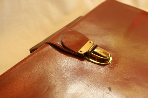 Leather Clutch Bag, Leather Clutch Purse, Vintage