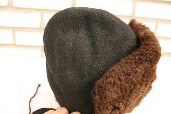 MEN/'S FUR HAT~ Brown~ Winter hat~ Outdoor cap accessory~ Russian Ambassador~ Vintage fashion~ Men/'s Gift