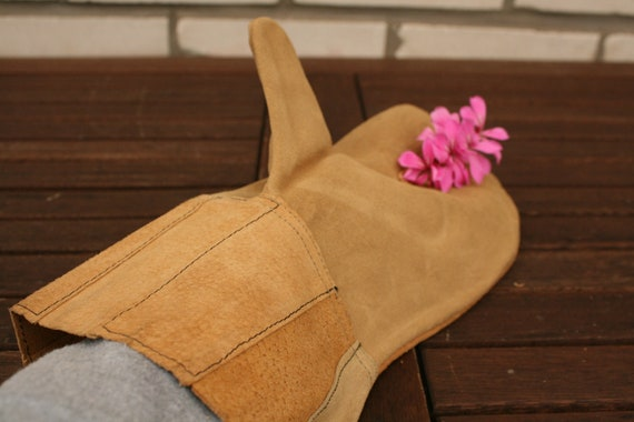 Vintage Gloves, Mens Leather Gloves, Industrial Gl