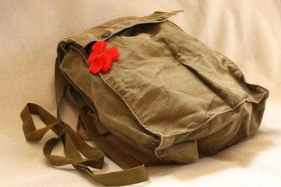 Genuine militare Borsa A Tracolla Borsa A Tracolla Messenger Vintage Esercito Tela Pesca