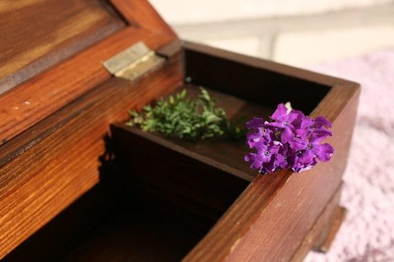 Vintage music box, Wooden jewelry box, Music Box,