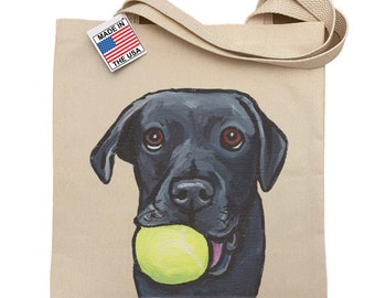 Name Dog Walker Pet Sitter Custom Embroidered Black White Yellow or Chocolate Labrador Monogram Essential Zippered Tote Pet Bag