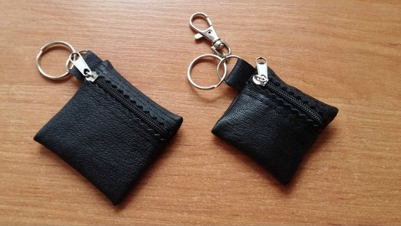 100/% Real Genuine Leather Keyring Key Pouch Purse Wallet Coins Money Keychain