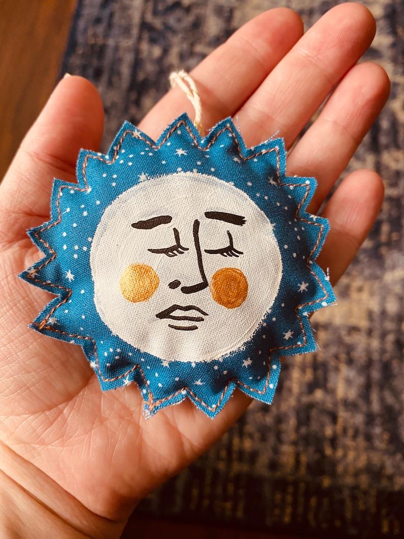 Large Lavender Moon Beam and Sleepy Star Ornaments