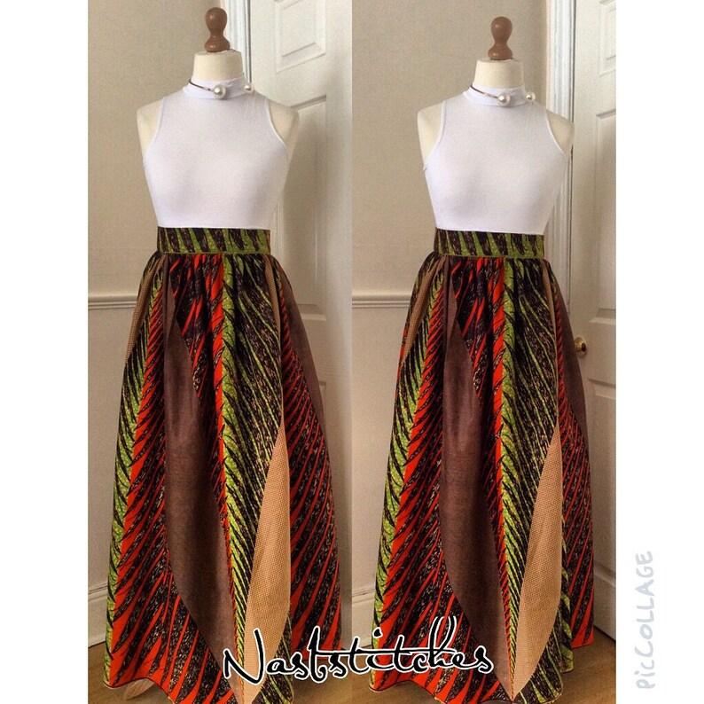 dd06f65b66 African clothing :Akuba African print maxi skirt Ankara maxi | Etsy
