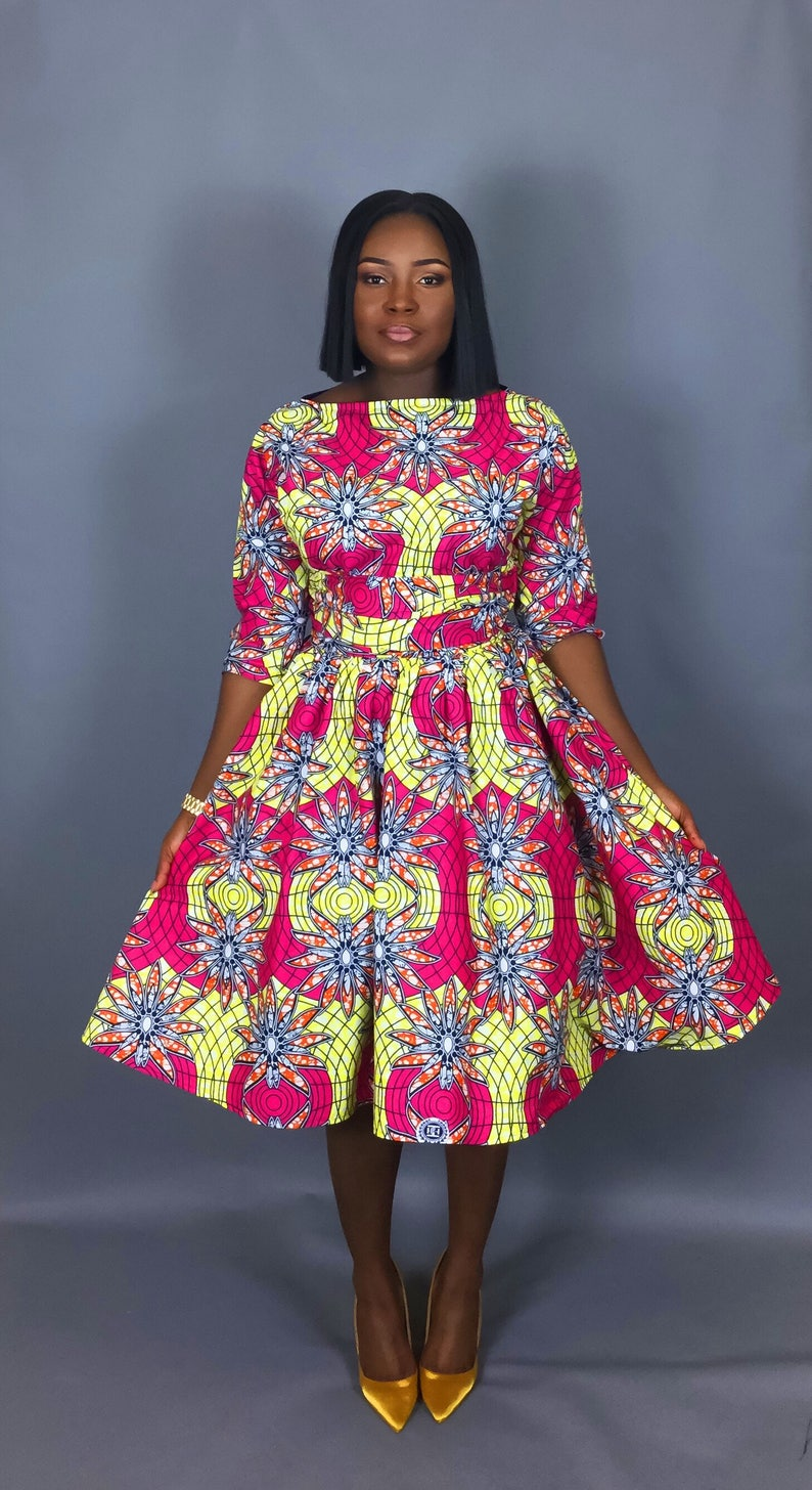 84c1a840559 NEW IN Vintage style African print tea length