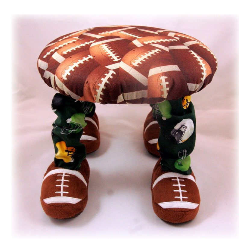 Unique Baby Gift Boy/'s Furniture Handmade Small Footstool Child/'s Chair Children/'s Furniture Nursery Decor Baby Furniture Football