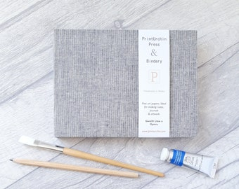 Fabriano Watercolour  Cornish Linen A5 Field book, 20 pages, Fabriano Rosaspina hot pressed paper 285gsm, Watercolour Sketchbook